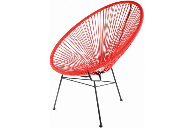 Fauteuil la chaise longue rouge acapulco fauteuil design - Chaise acapulco noir ...