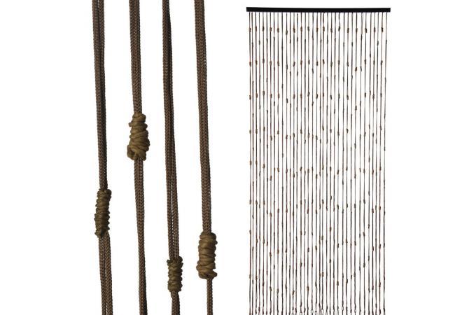 rideau de porte n uds de corde 90x200cm rideaux pas cher. Black Bedroom Furniture Sets. Home Design Ideas