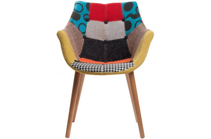 chaise avec accoudoirs patchwork max fauteuil design pas cher. Black Bedroom Furniture Sets. Home Design Ideas