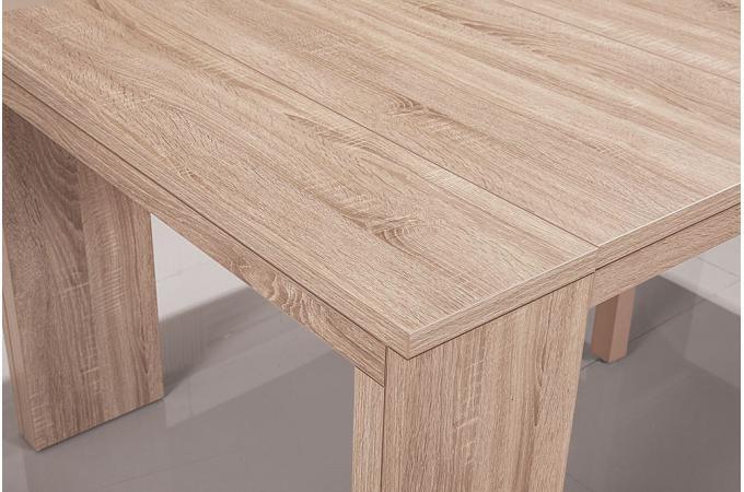 table console extensible ch ne clair 4 rallonges xl. Black Bedroom Furniture Sets. Home Design Ideas