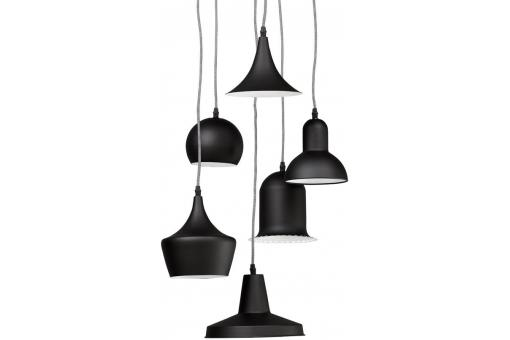Suspension Multi Abat-jour Noire PINGOUIN - Lustre et suspension design
