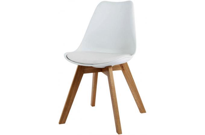 Chaise design style scandinave blanche esben chaise for Chaise de table scandinave