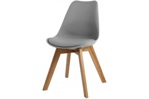 Chaise Design Style Scandinave Grise ESBEN - Chaise design