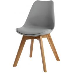 Chaise Design Style Scandinave Grise ESBEN