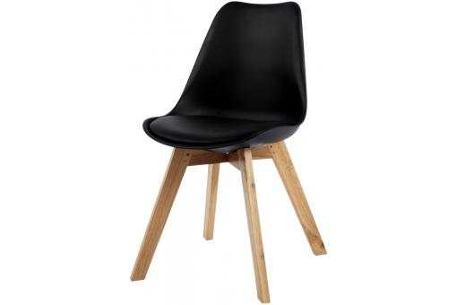 Chaise Design Style Scandinave Noire ESBEN - Chaise design