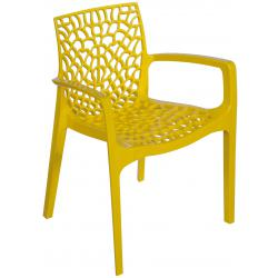 Chaise Design Jaune Avec Accoudoirs GRUYER