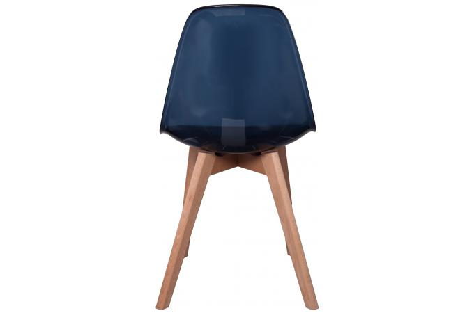 chaise scandinave transparente noire fjord chaise design pas cher. Black Bedroom Furniture Sets. Home Design Ideas
