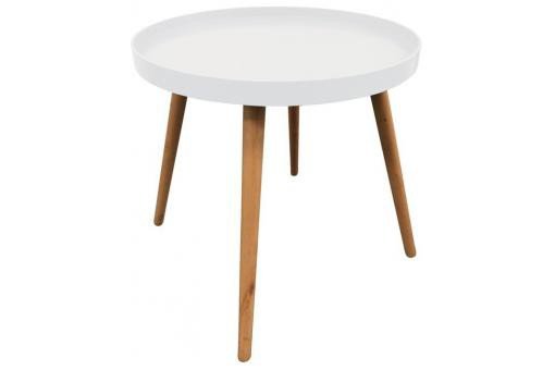 Table Ronde Plateau Blanc DEER - Table basse design