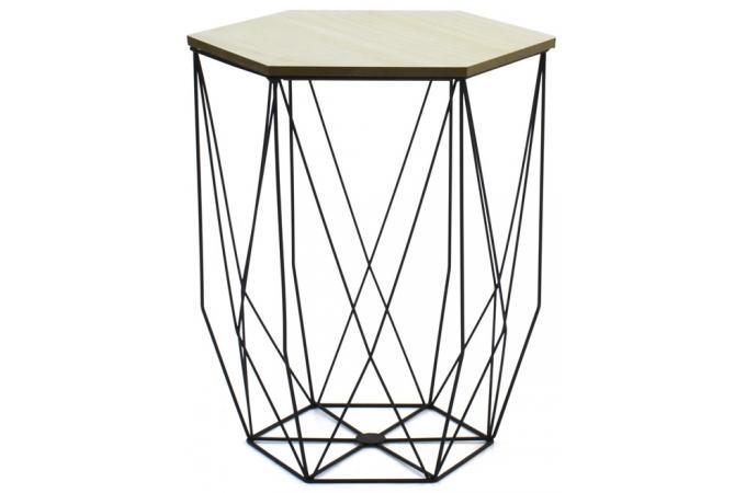 Lot de 2 tables gigognes filaires noir boreal table - Table basse pas cher noir ...