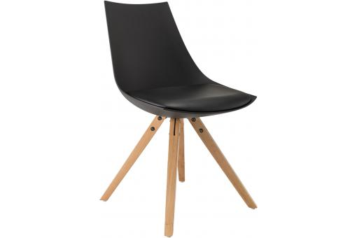 Chaise Scandinave Noire TURIN
