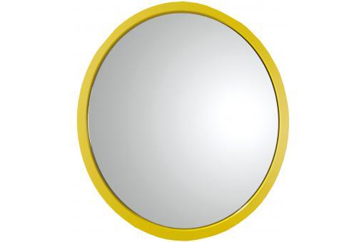 Miroir rond jaune livia miroir rond et ovale pas cher for Miroir jaune
