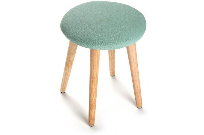 tabouret scandinave rond vert theon petit tabouret pas cher. Black Bedroom Furniture Sets. Home Design Ideas