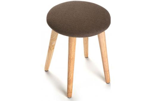 Tabouret scandinave rond marron THEON