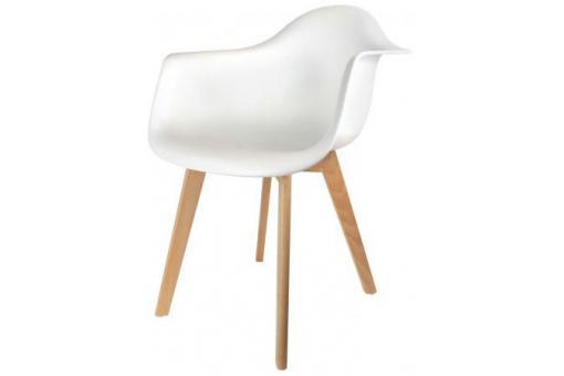chaise scandinave avec accoudoir blanc fjord chaise design pas cher. Black Bedroom Furniture Sets. Home Design Ideas