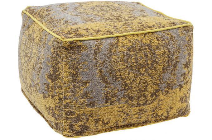 pouf kelim pop jaune 60x60x40 kelim pouf design pouf g ant pas cher. Black Bedroom Furniture Sets. Home Design Ideas