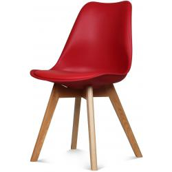 Chaise Design Style Scandinave Rouge ESBEN