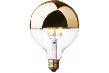 Ampoule Style Rétro Globe LED Calotte Argentée D12,5 APOLLON ...
