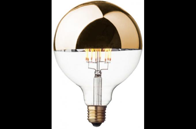 ampoule style r tro globe led calotte dor e d12 5 apollon ampoule filament design pas cher. Black Bedroom Furniture Sets. Home Design Ideas