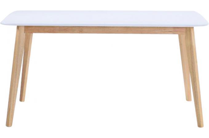 Table Scandinave Extensible Blanche 90x150/180 KABLI - Table à ...