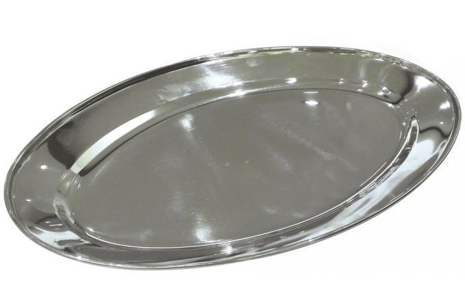Plat ovale en inox anita accessoires cuisine for Plat cuisine inox