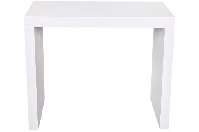console extensible blanche 225cm laqu e mayline table console pas cher. Black Bedroom Furniture Sets. Home Design Ideas
