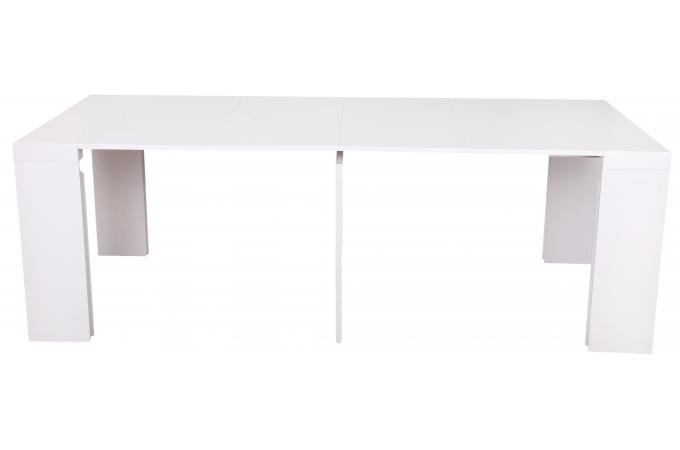 console extensible blanche 225cm laque mayline - Table Console Extensible Blanc Laque