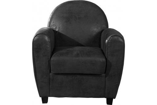 fauteuil club gris vieilli heloise fauteuil design pas cher. Black Bedroom Furniture Sets. Home Design Ideas