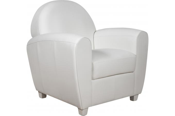 fauteuil club blanc heloise fauteuil design pas cher. Black Bedroom Furniture Sets. Home Design Ideas