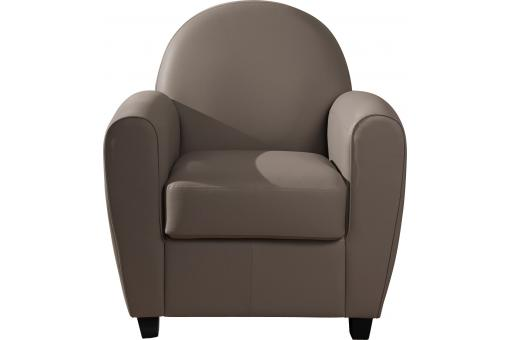Fauteuil Club Taupe HELOISE