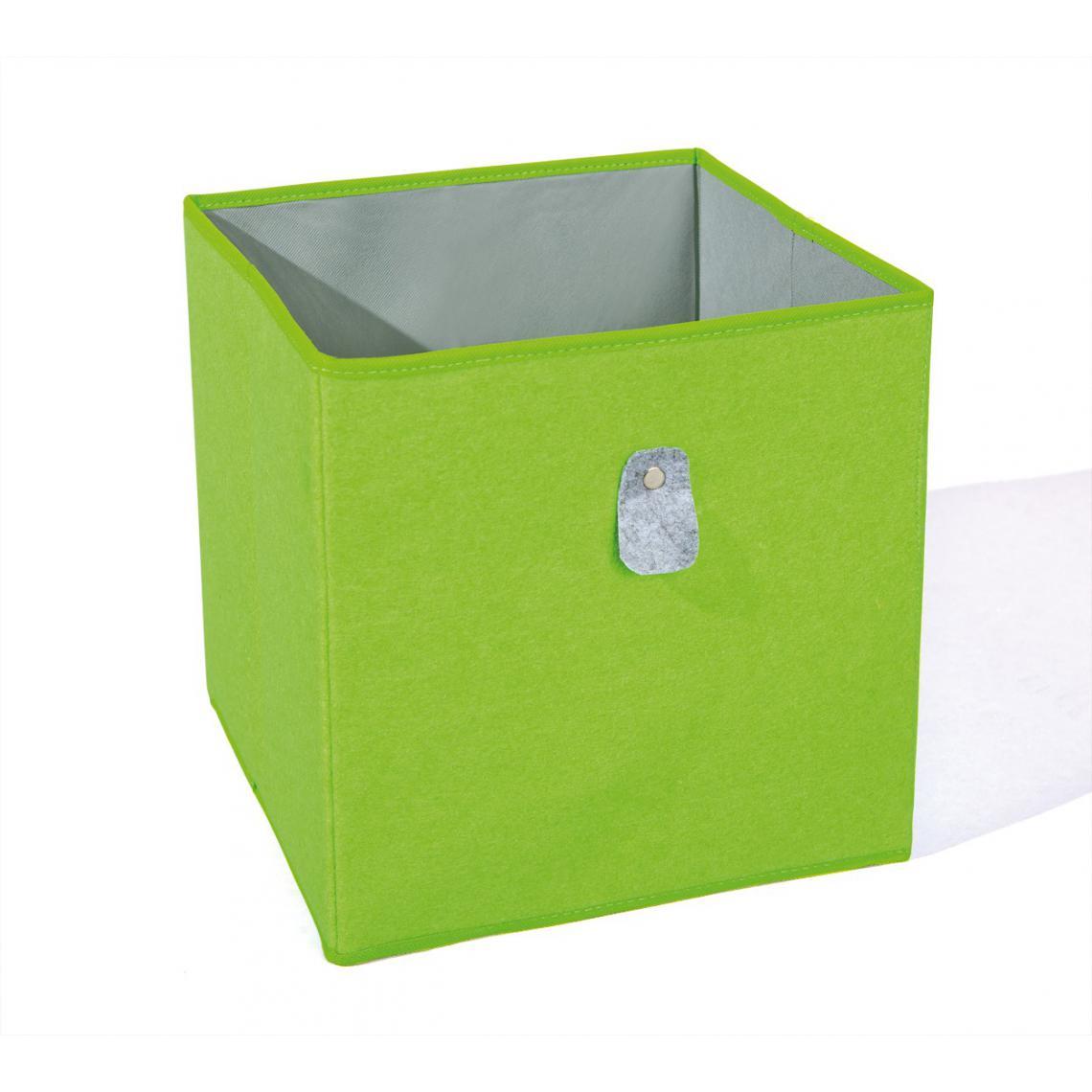 Boite De Rangement Verte et Grise JOLLY - Boîte de Rangement Pas Cher