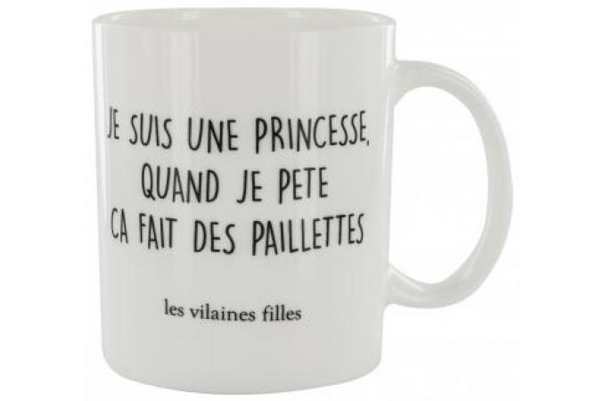 Mug La Chaise Longue Je Suis Une Princesse Quand Pete Ca Fait Des Paillettes BADGIRL