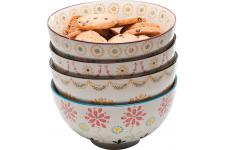 Lot De 4 Bols KARE DESIGN En Porcelaine Impression Fleuries Multicolore D15 FLORILEGE - Vaisselle design