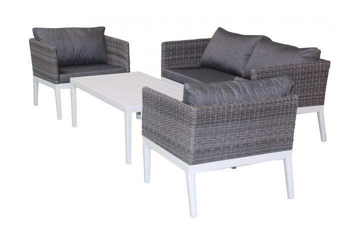 salon de jardin en aluminium et r sine tress e gris lola salon de jardin pas cher. Black Bedroom Furniture Sets. Home Design Ideas