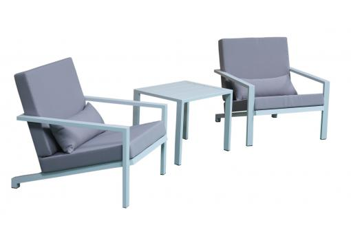 salon de jardin en aluminium blanc et gris lina salon de jardin pas cher. Black Bedroom Furniture Sets. Home Design Ideas