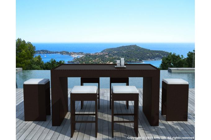 stunning table haute de jardin tresse photos amazing. Black Bedroom Furniture Sets. Home Design Ideas