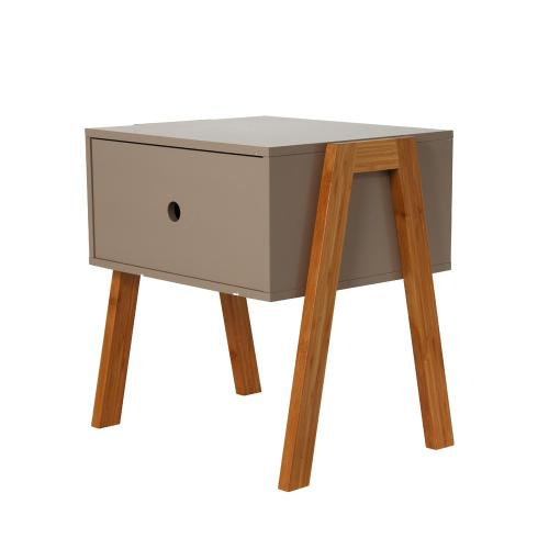 Table de Chevet Empilable Taupe ICHIGO - Table de chevet design