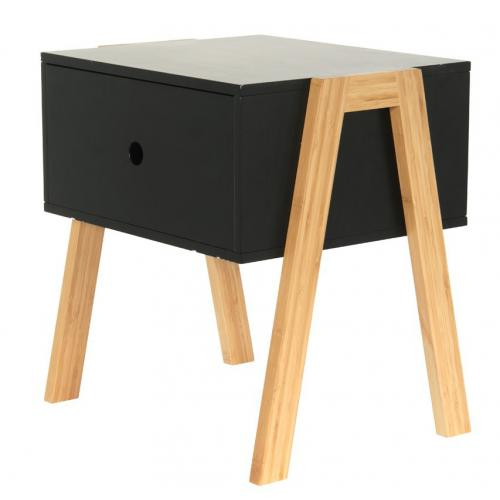 Table de Chevet Empilable Noir ICHIGO - Table de chevet design