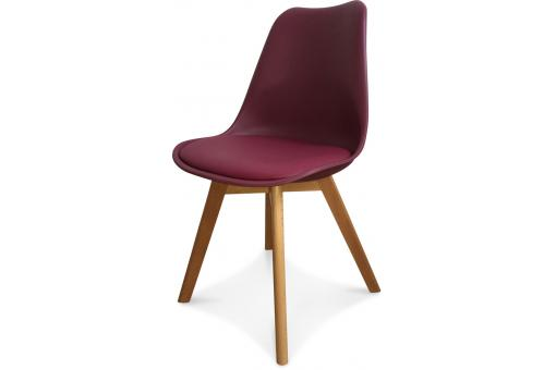 Chaise Design Style Scandinave Bordeaux Wine ESBEN - Chaise design