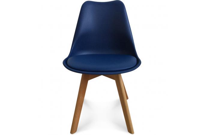 chaise design style scandinave bleu marine esben chaise design pas cher. Black Bedroom Furniture Sets. Home Design Ideas