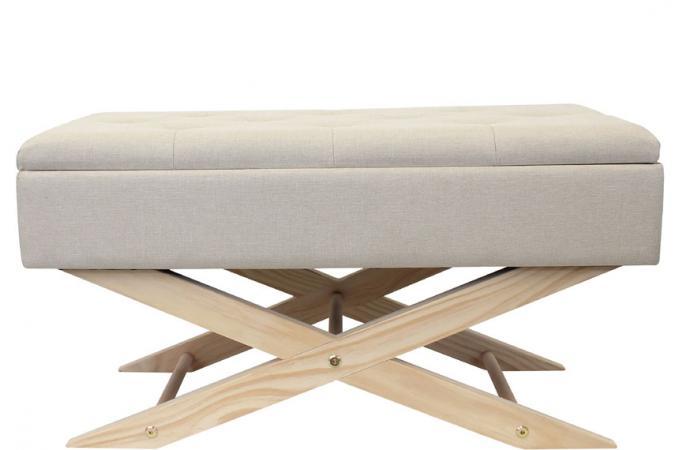 banquette avec rangement beige raku banquette m ridienne pas cher. Black Bedroom Furniture Sets. Home Design Ideas