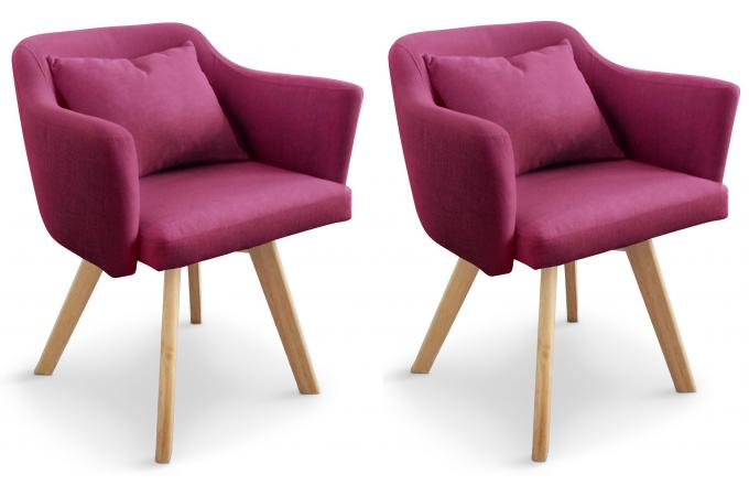 Lot de 2 Fauteuils Scandinaves Violet LAYAL