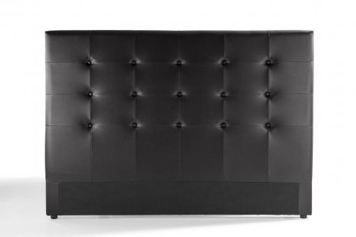 t te de lit capitonn e noire 180x200 orlena t te de lit pas cher. Black Bedroom Furniture Sets. Home Design Ideas