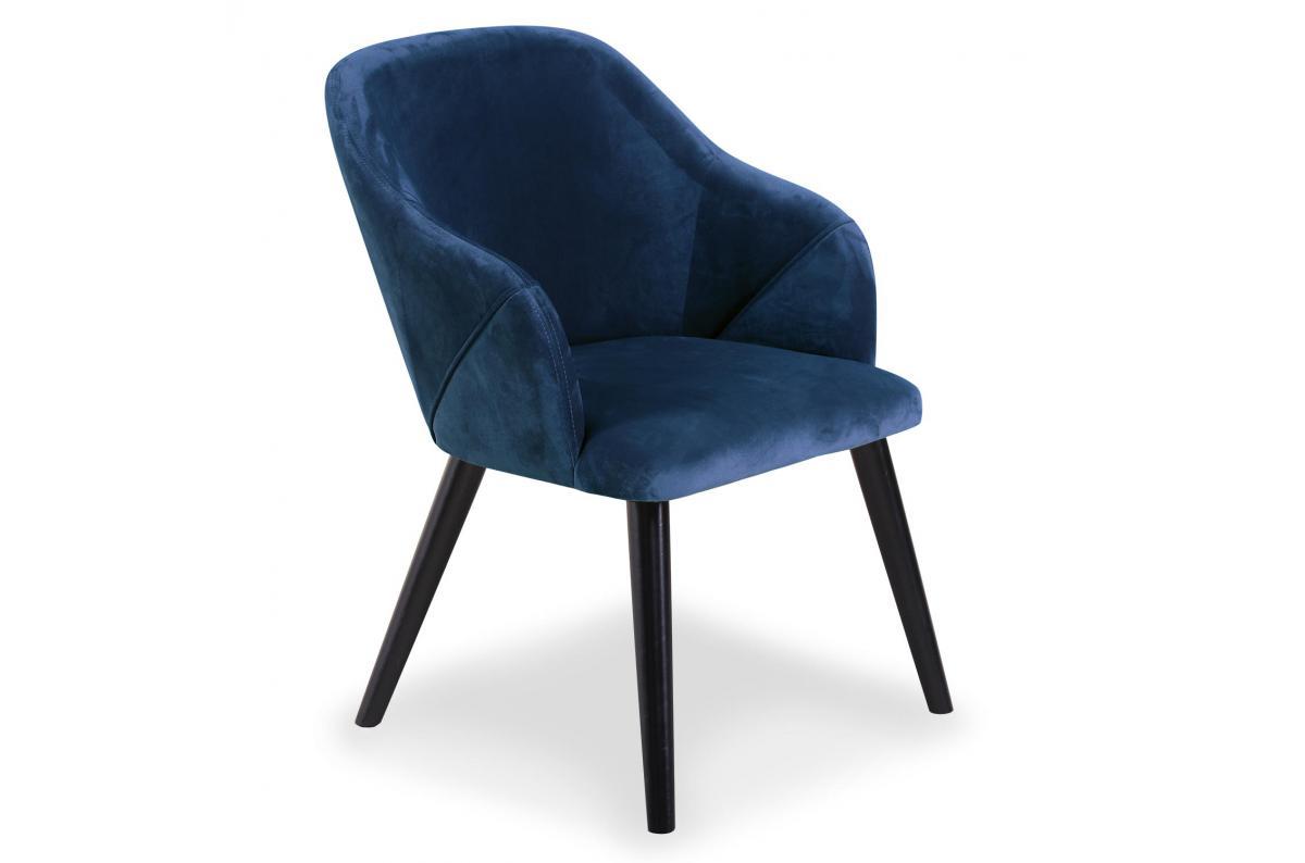 Lot de 2 Chaises Velours Bleu BULLY - Chaise Pas Cher