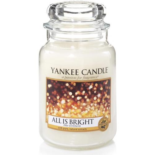 Bougie Grand Modèle All Is Bright/ Fête Scintillante - Yankee candle bougie deco