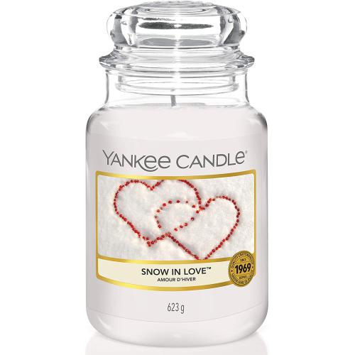Bougie Grand Modèle Snow In Love/ L'amour D'hiver - Yankee candle bougie deco