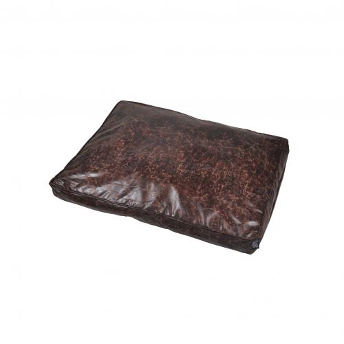 Coussin Rectangle Polyester 80*60*8cm Chesterfield Chocolat - Accessoires animaux