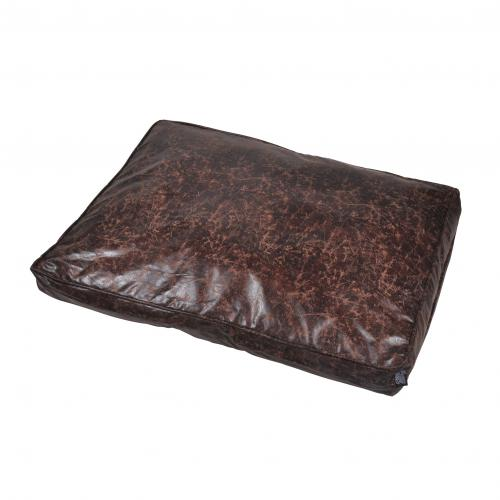 Coussin Rectangle Polyester 100*70*10cm Chesterfield Chocolat - Accessoires animaux