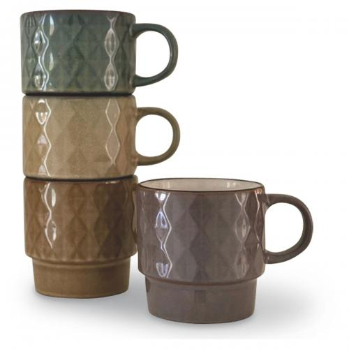 Set De 4 Mugs Fox Ass D9 H9,3Cm - Mug et verre design