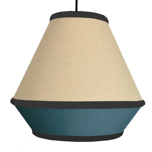Suspension Tressée Bleu NAGOYA - Edition scandicraft deco luminaire