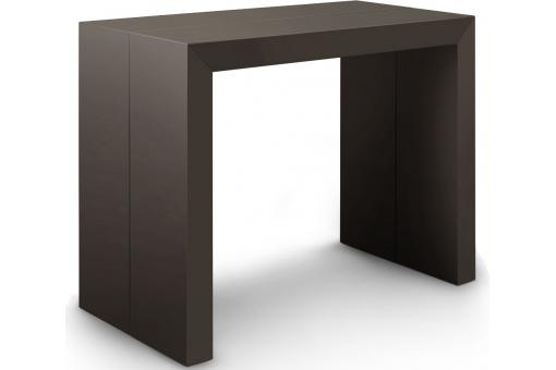 Table console extensible gris effet carbone 3 rallonges Nicky